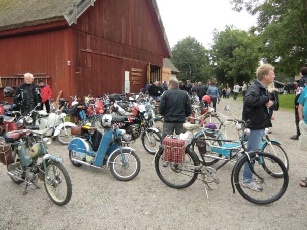 En del av av dom tvåhjuliga. Kul att så många var på plats.