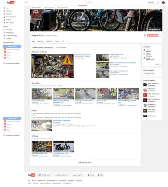 Moppedistas på Youtube