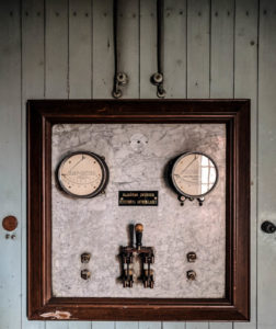 Kontrollpanel i elektricitetshuset